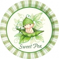 Sweet Pea Baby Shower Dessert Plates (8)